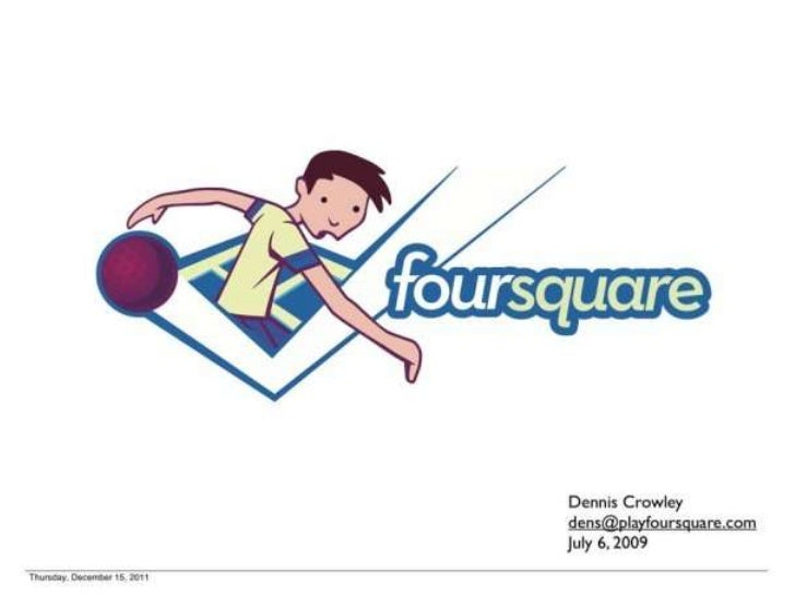Foursquare's 1st Pitch Deck