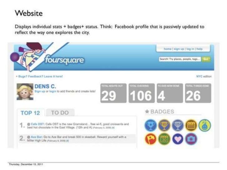 Foursquare's 1st Pitch Deck