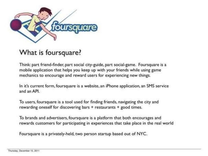 Foursquare's 1st Pitch Deck Slide 2