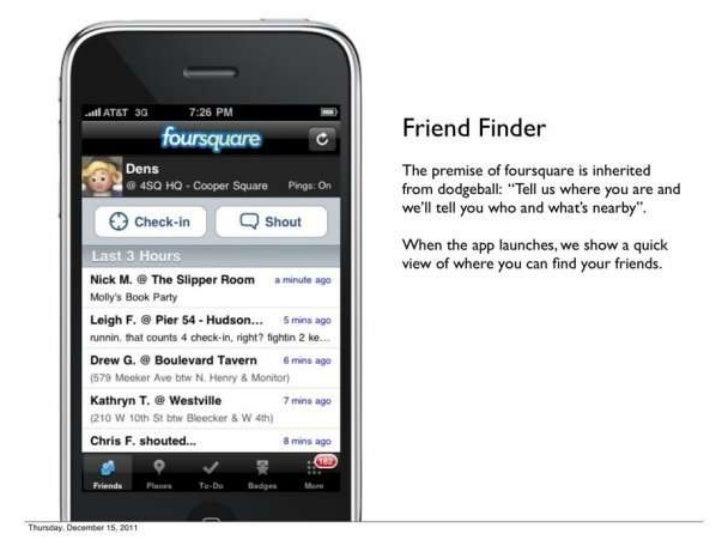 Foursquare's 1st Pitch Deck Slide 3