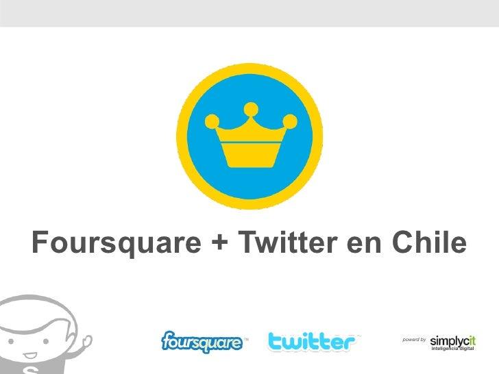 Foursquare + Twitter en Chile                          powerd by                                     inteligencia digital