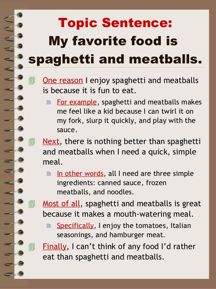 My favorite restaurant essay