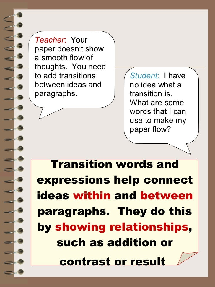 transition sentences between paragraphs examples
