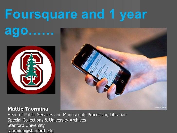 <ul><li>Mattie Taormina </li></ul><ul><li>Head of Public Services and Manuscripts Processing Librarian </li></ul><ul><li>S...
