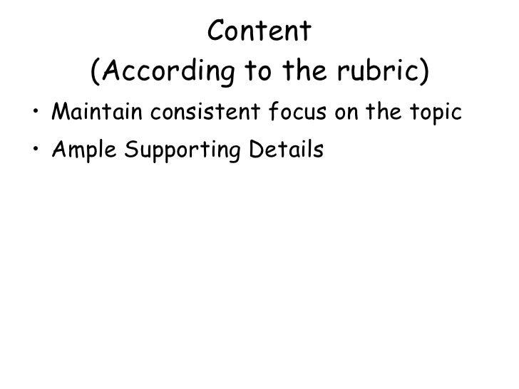 wasl essay rubric