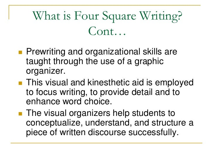 four square writing prompts Congratulations on your purchase of this frayer 4-square  of space to model writing the four attributes of a new  organizer with four prompts to help students.