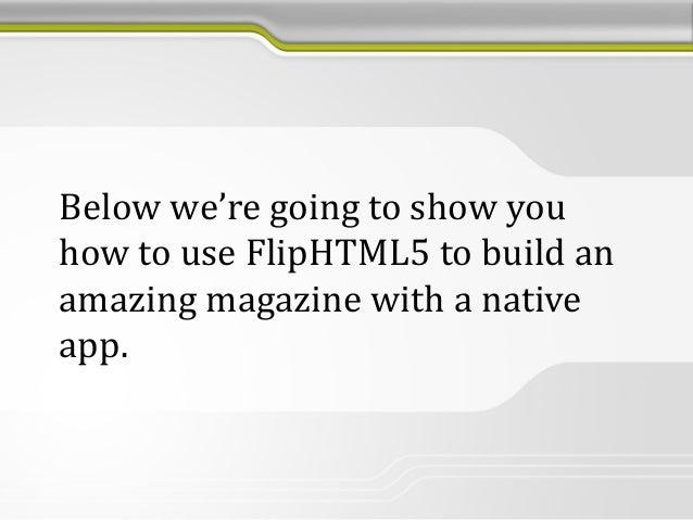 online magazine software html5