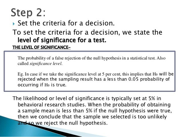 hypothesis testing 5 steps and logic Chapter 4, practice problem: #11 #11 list the five steps of hypothesis testing, and explain the procedure and logic of each hypothesis testing.