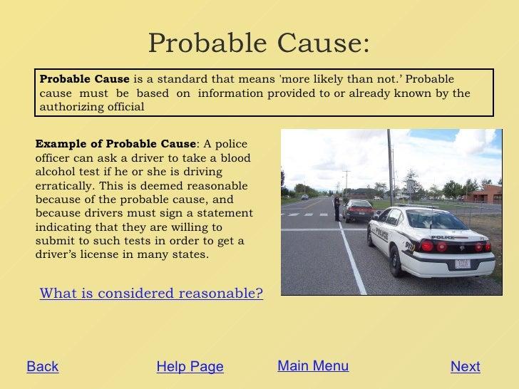 Definitions Of Probable Cause Vs. Reasonable Suspicion