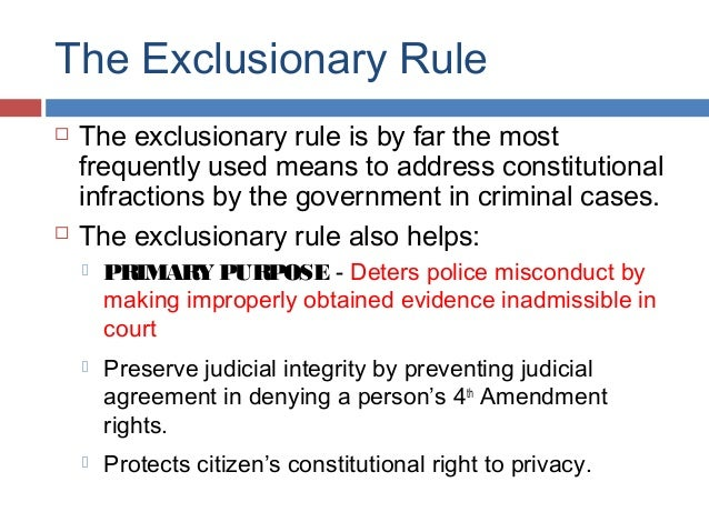 exclusionary rule examples