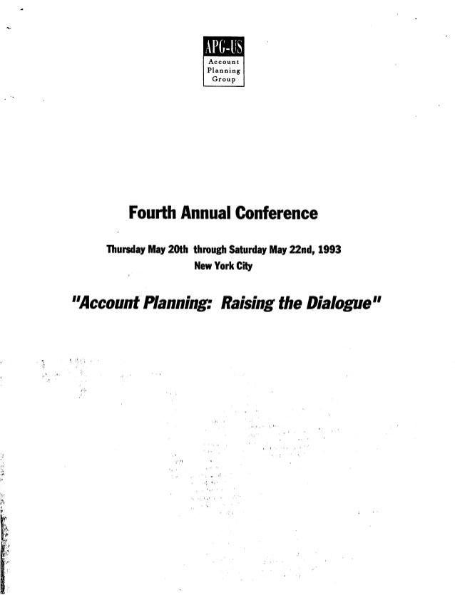 Fourth annual planning conference 1993 agenda