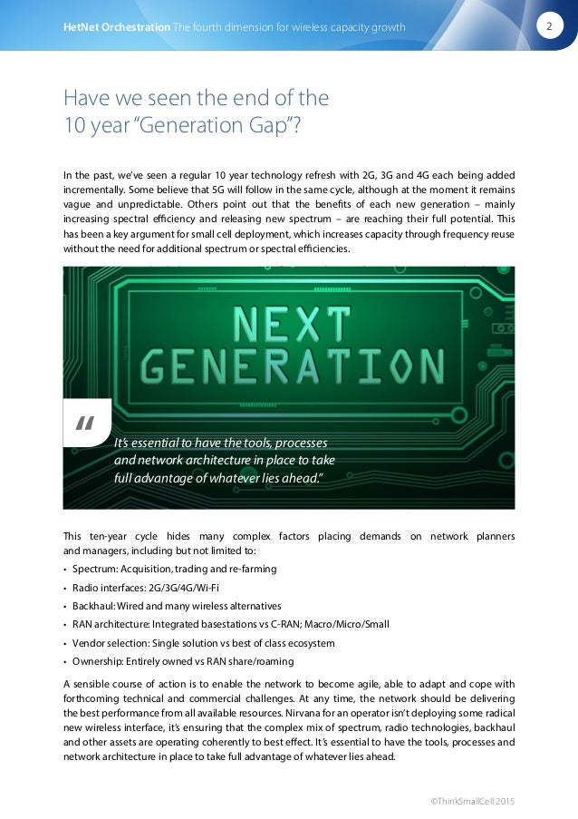 """Have we seen the end of the 10 year""""Generation Gap""""? In the past, we've seen a regular 10 year technology refresh with 2G,..."""