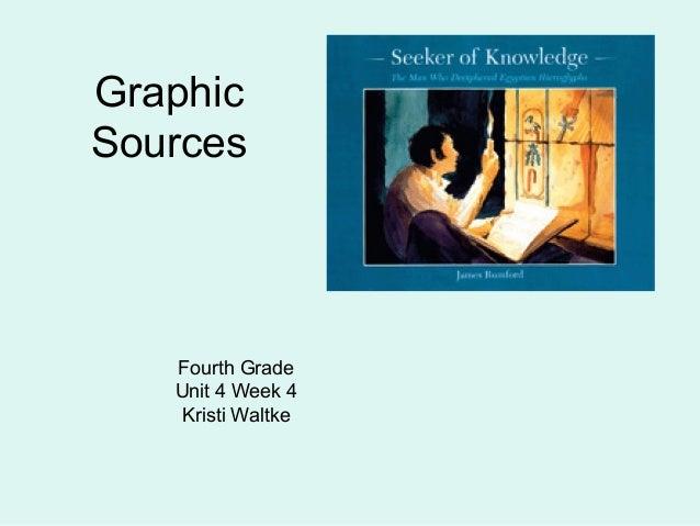 Graphic Sources  Fourth Grade Unit 4 Week 4 Kristi Waltke