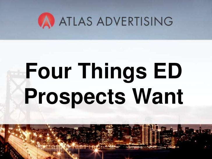 Four Things ED Prospects Want<br />