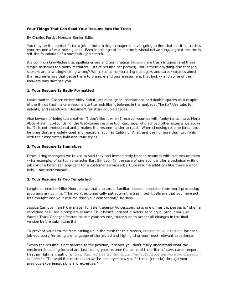 what are four things a great resume shows employers - Vatoz ...