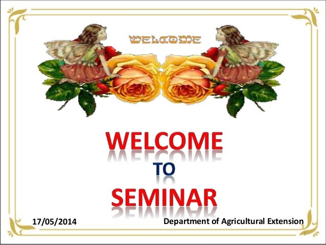 17/05/2014 Department of Agricultural Extension 1