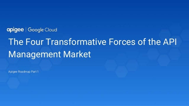 The Four Transformative Forces of the API Management Market Apigee Roadmap Part 1