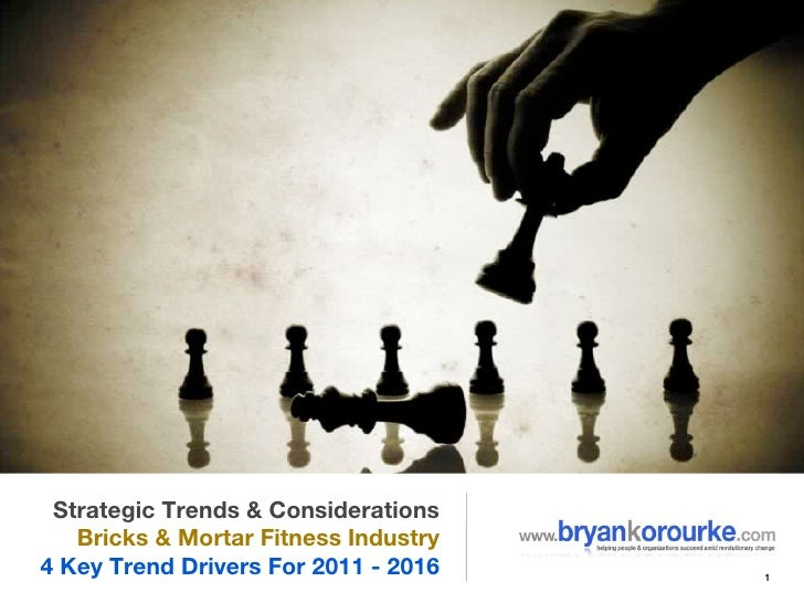 Strategic Trends & Considerations   Bricks & Mortar Fitness Industry4 Key Trend Drivers For 2011 - 2016   1