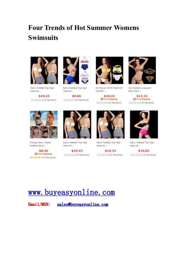 Four Trends of Hot Summer Womens Swimsuits www.buyeasyonline.com Email/MSN: sales@buyeasyonline.com
