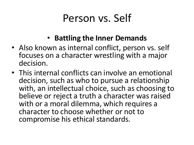 four types of internal and external conflict in literature