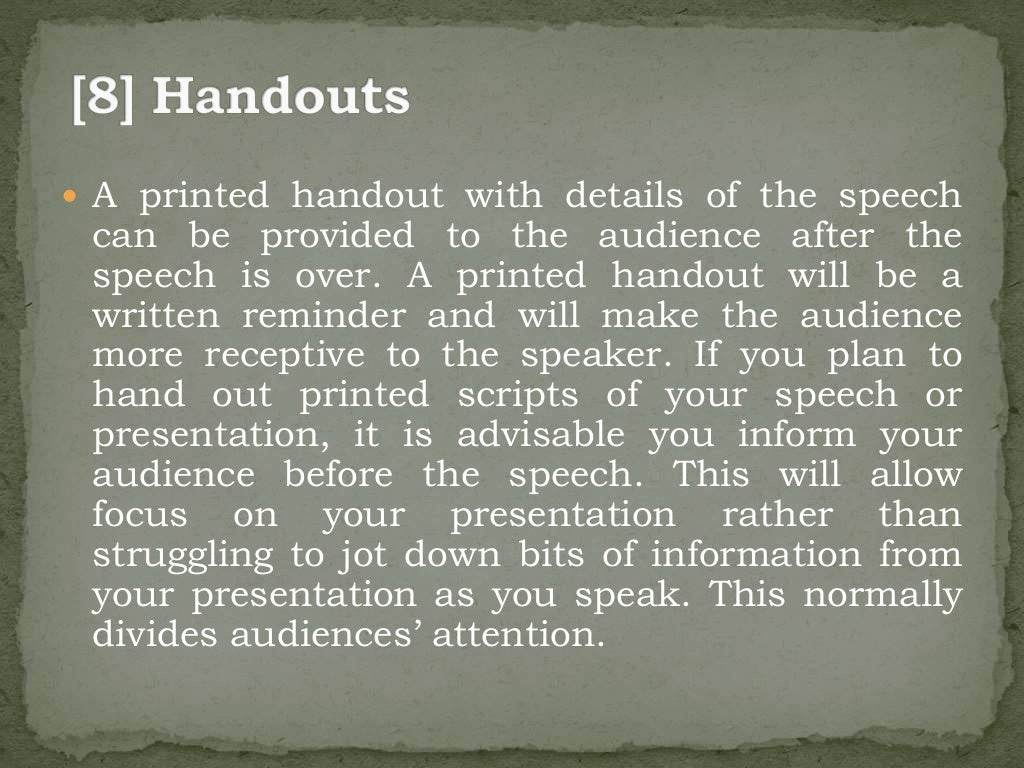 Four types of public speaking and Useful Speech Writing Tips
