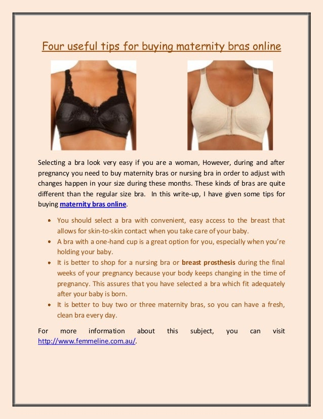 6eee4c29f1 Four useful tips for buying maternity bras online Selecting a bra look very  easy if you
