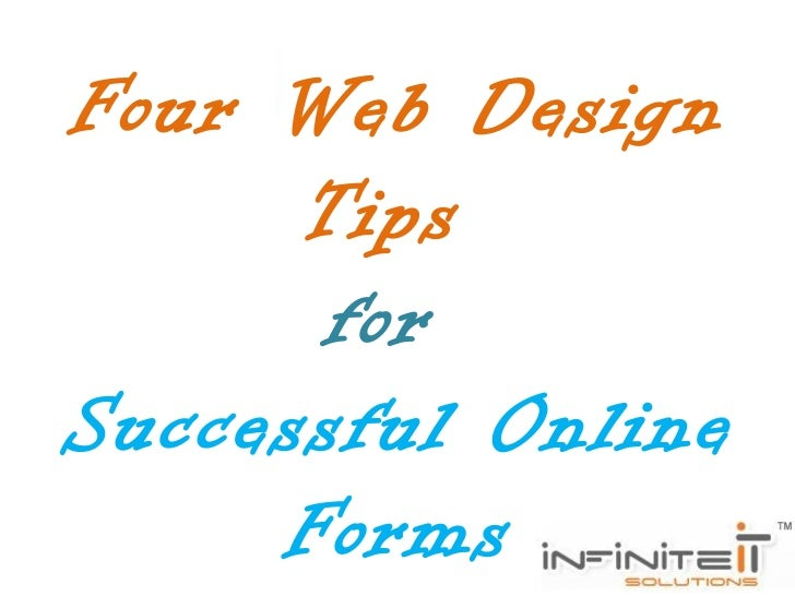 Four web design tips for successful online forms Decorating advice online