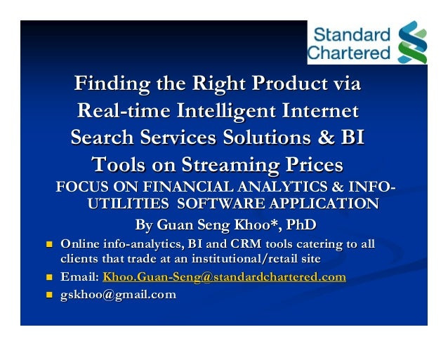 Finding the Right Product viaFinding the Right Product via RealReal--time Intelligent Internettime Intelligent Internet Se...