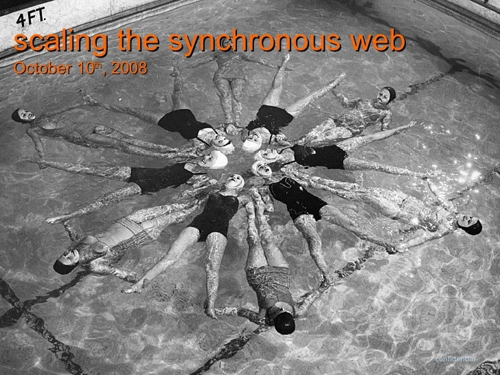 confidential scaling the synchronous web October 10 th , 2008