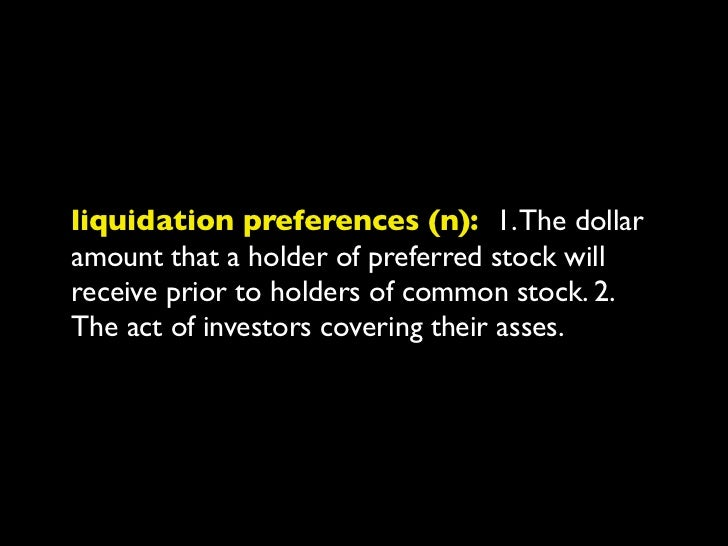 preferred stock (n): 1. Stock that entitlesthe holder to a fixed dividend, whose paymenttakes priority over that of common-...