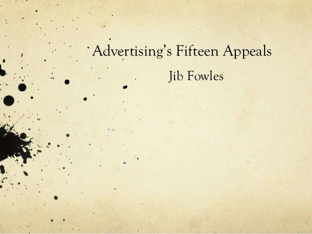 FIFTEEN BASIC APPEALS IN ADVERTISING