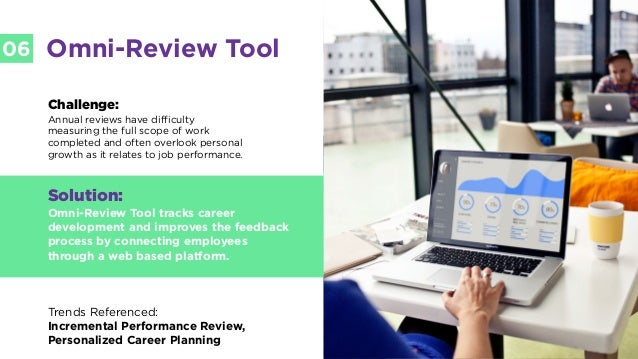LABS @PSFK #FutureofWork LABS 06 Omni-Review Tool Challenge: Annual reviews have difficulty measuring the full scope of wo...