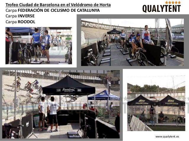 Trofeo Ciudad de Barcelona en el Vel�dromo de Horta Carpa FEDERACI�N DE CICLISMO DE CATALUNYA Carpa INVERSE Carpa ROODOL w...