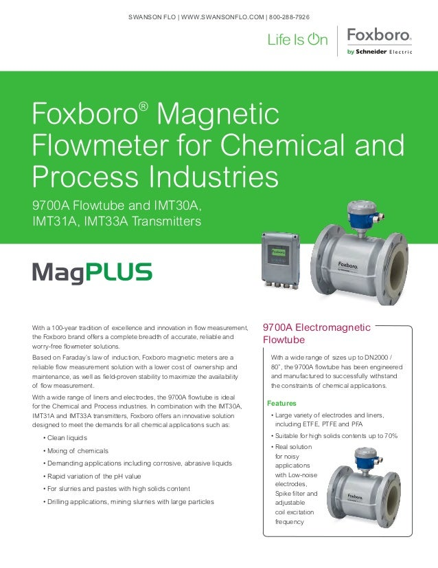 With a 100-year tradition of excellence and innovation in flow measurement, the Foxboro brand offers a complete breadth of...