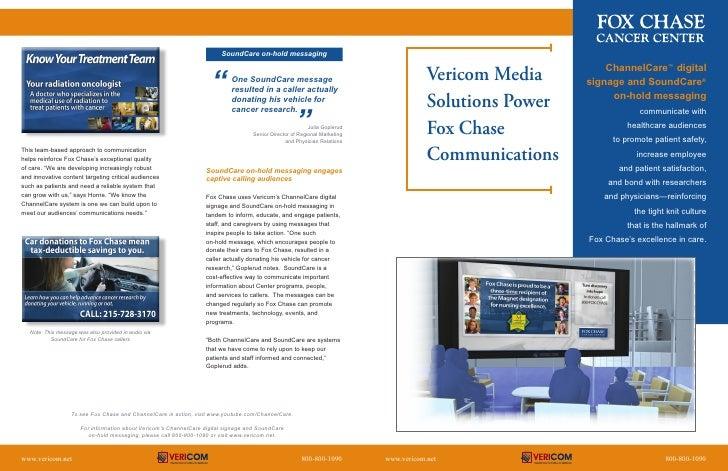 ChannelCare™ digital             Vericom Media                      signage and SoundCare®              Solutions Power   ...