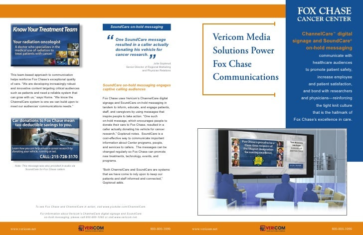 Fox Chase Case Study Brochure