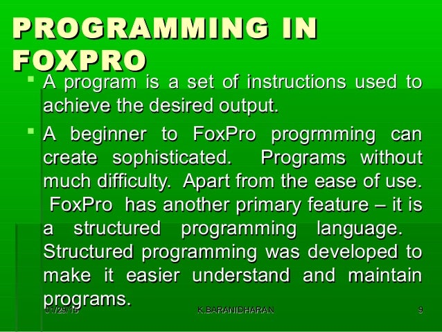 Fox pro 2 6