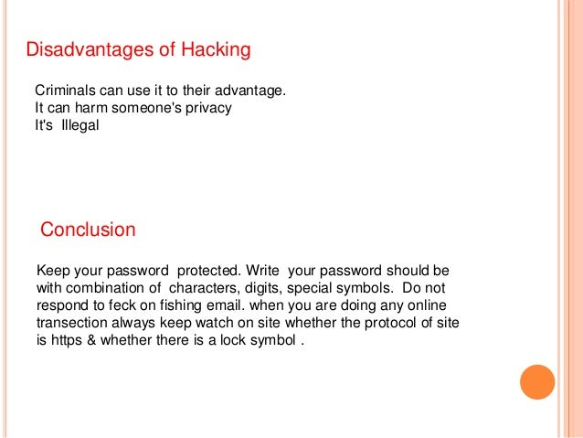 advantages and disadvantages of hacking pdf