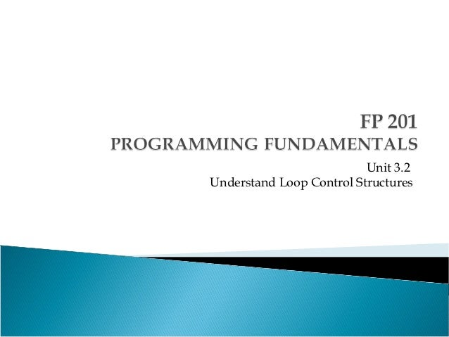 Unit 3.2Understand Loop Control Structures