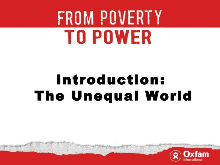 Introduction title Introduction:  The Unequal World