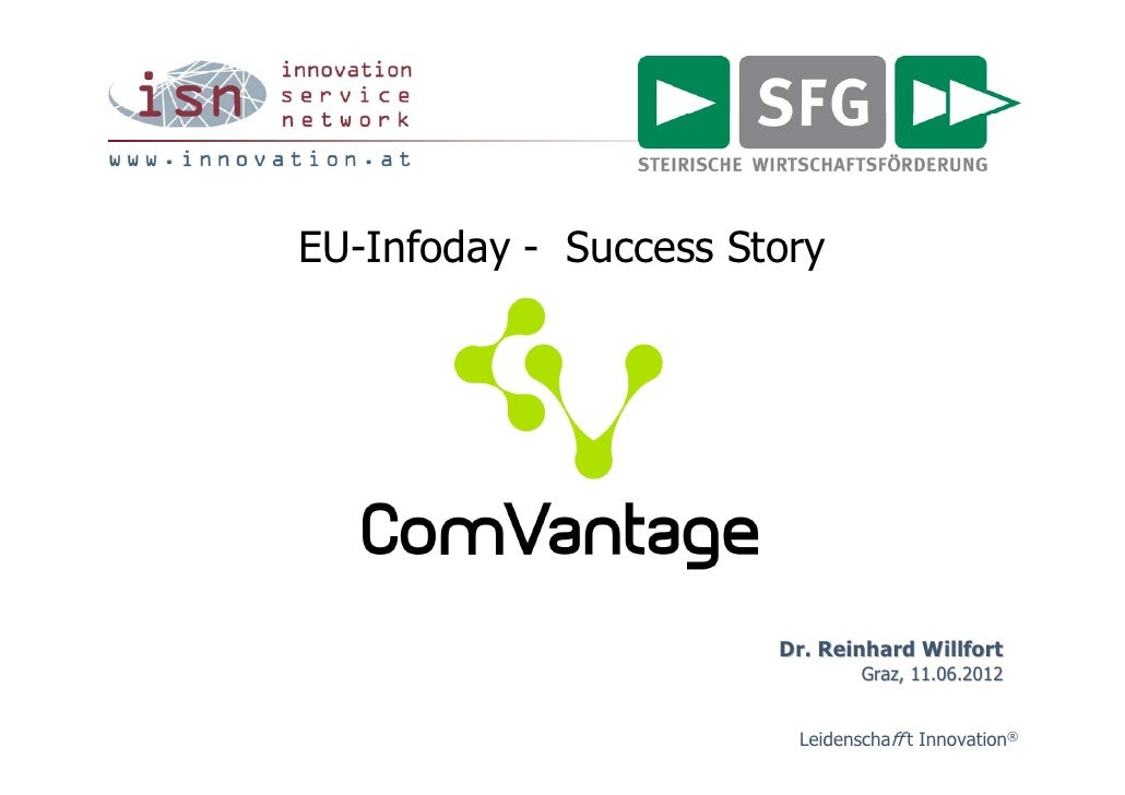 EU-Infoday - Success Story                       Dr. Reinhard Willfort                               Graz, 11.06.2012     ...