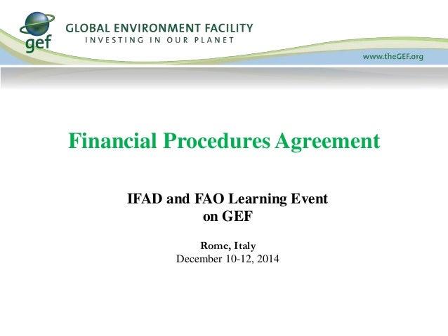 Financial Procedures Agreement