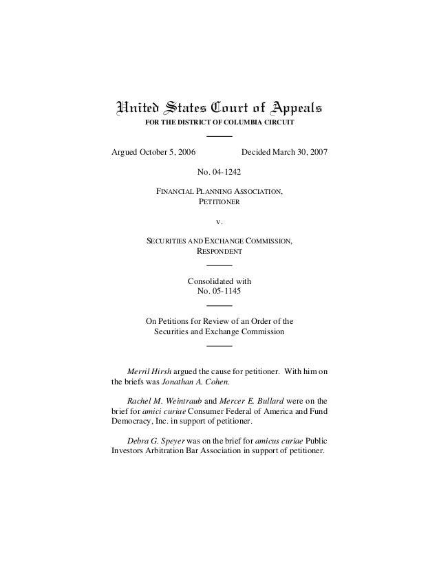 United States Court of Appeals FOR THE DISTRICT OF COLUMBIA CIRCUIT Argued October 5, 2006 Decided March 30, 2007 No. 04-1...