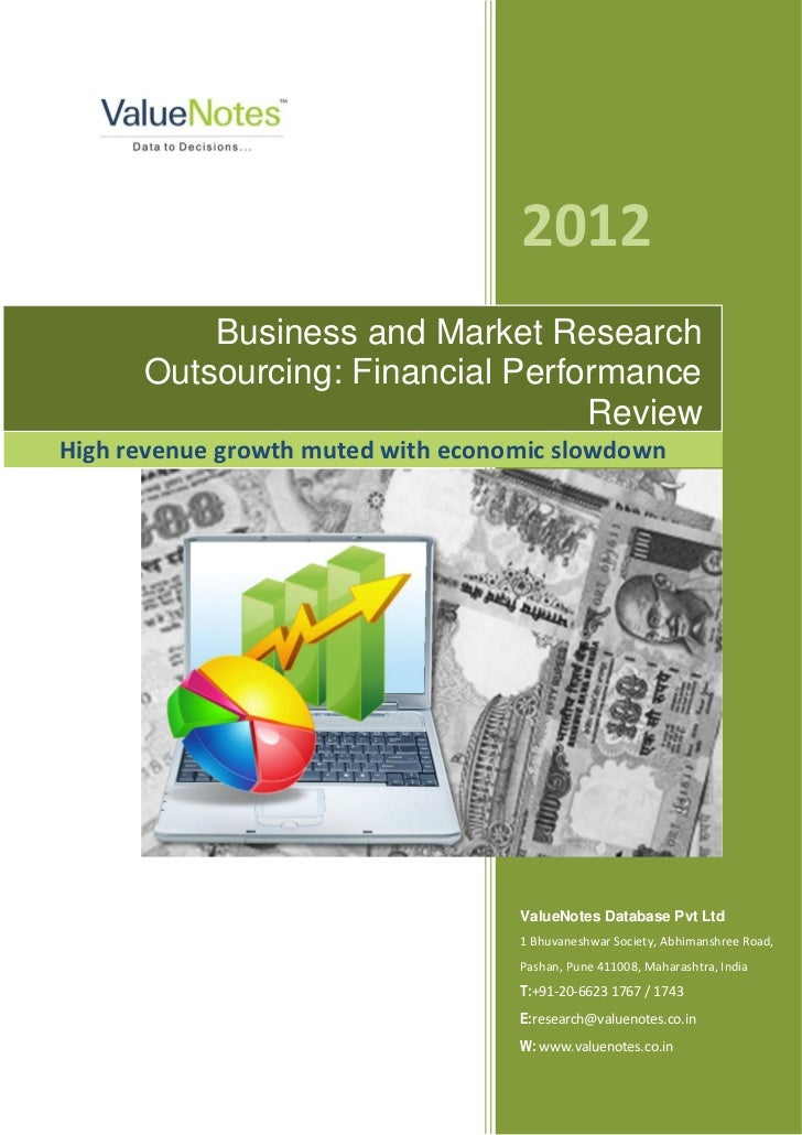 2012          Business and Market Research      Outsourcing: Financial Performance                                  Review...