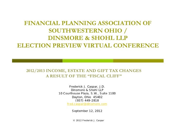 FINANCIAL PLANNING ASSOCIATION OF        SOUTHWESTERN OHIO /        DINSMORE & SHOHL LLPELECTION PREVIEW VIRTUAL CONFERENC...