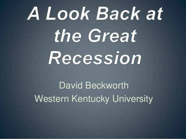 David Beckworth Western Kentucky University