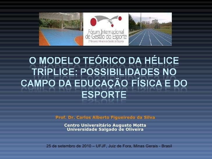Palestra gestão do esporte 2010.2 2 - Hélice Tríplice