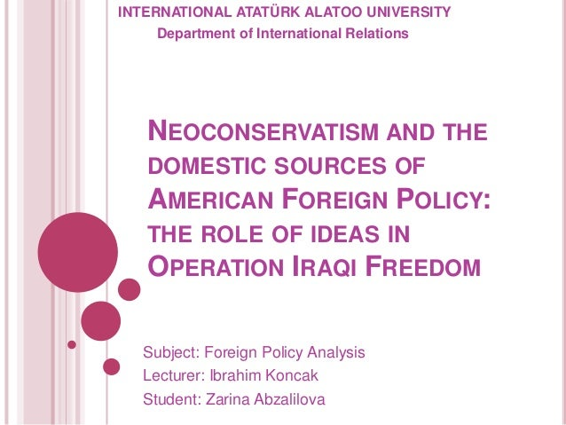 U.S. Foreign Policy and National Security Program Concentration
