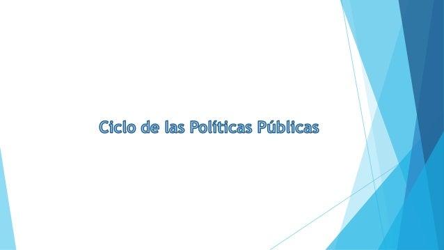 El ciclo de una política pública Política s Pública s Identificación y definición del problema. Inclusión en la agenda gub...