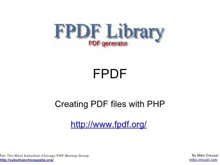 The FPDF Library